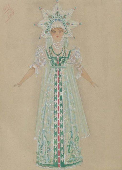 Snow Maiden   Sergei Malyutin   Oil Painting