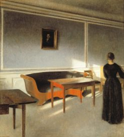 Sunshine in the Living Room | Vilhelm Hammershøi | Oil Painting