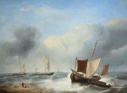 Coast Scene | Charles Louis Verboeckhoven | Oil Painting