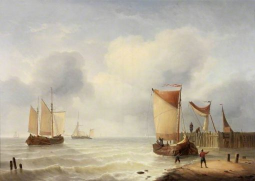 The Rising Tide | Charles Louis Verboeckhoven | Oil Painting