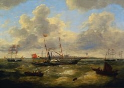 Arrival of the Yacht of Queen Victoria in Ostend | Charles Louis Verboeckhoven | Oil Painting
