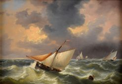 The Fishing Boats | Charles Louis Verboeckhoven | Oil Painting