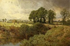 Landscape with Haymakers | John Clayton Adams | Oil Painting
