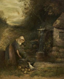 Girl at the Mill Wheel | Ernest Walbourn | Oil Painting