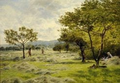 The Hayfield   John Clayton Adams   Oil Painting
