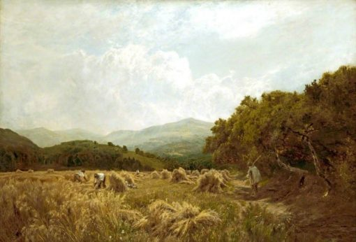 Welsh Harvest Field | John Clayton Adams | Oil Painting