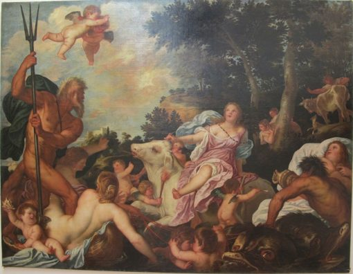 Abduction of Europe   Alessandro Varotari   Oil Painting