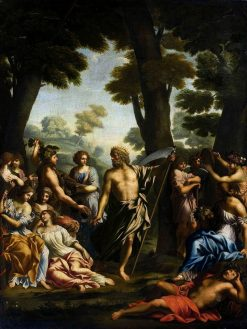 Satyr and Nymphs   Giovanni Francesco Romanelli   Oil Painting