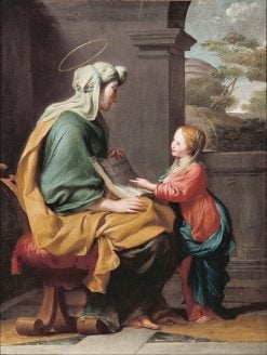 Education of the Virgin | Giovanni Francesco Romanelli | Oil Painting
