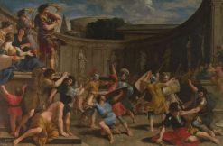 Roman Gladiators with Wooden Swords   Giovanni Francesco Romanelli   Oil Painting