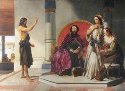 John the Baptist Reproving Herod   John Rogers Herbert   Oil Painting