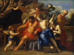 Hercules and Omphale | Giovanni Francesco Romanelli | Oil Painting