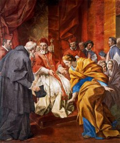 The Meeting of the Countess Matilda and Anselm of Canterbury in the Presence of Pope Urban II   Giovanni Francesco Romanelli   Oil Painting