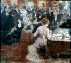 Il salotto della principessa Matilde | Giuseppe de Nittis | Oil Painting