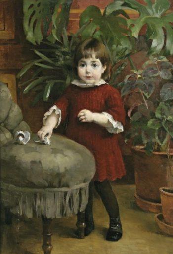 Little Gudrun | Helene Schjerfbeck | Oil Painting