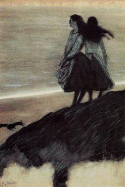 Two Girls by the Shore | Leon Spilliaert | Oil Painting