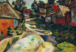 Village Street | Adolf Milman | Oil Painting