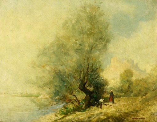 On the Seine near Chateau Gaillard at Les Andeleys between Rouen and Paris | George Murray | Oil Painting