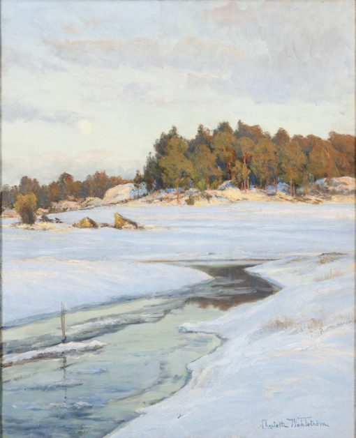 An Evening in March   Charlotte Wahlstrom   Oil Painting