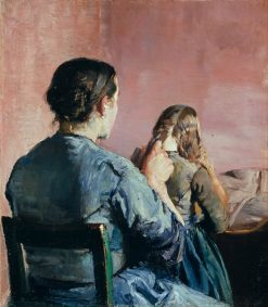 Braiding her Hair | Christian Krohg | Oil Painting