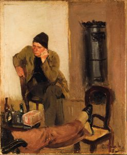 Charles Lundh in Conversation with Christian Krohg | Christian Krohg | Oil Painting