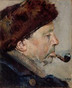 Niels Gaihede   Christian Krohg   Oil Painting