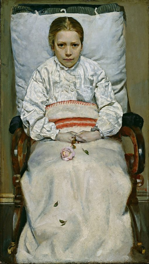 Sick Girl | Christian Krohg | Oil Painting