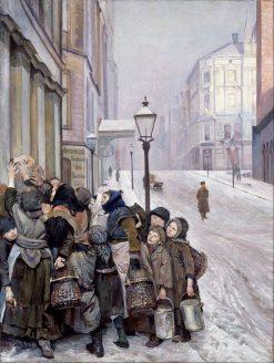 Struggle for Survival   Christian Krohg   Oil Painting