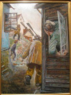 Silda Kommer   Christian Krohg   Oil Painting