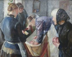 In the Bathtub | Christian Krohg | Oil Painting