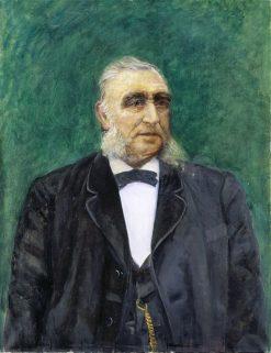 Portrait of Norwegian coal dealer Hans Arnt Hartvig Paulsen   Christian Krohg   Oil Painting