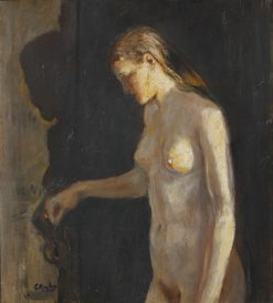 The Model | Christian Krohg | Oil Painting