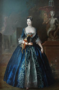 Anna Orzelska with a Pug | Antoine Pesne | Oil Painting