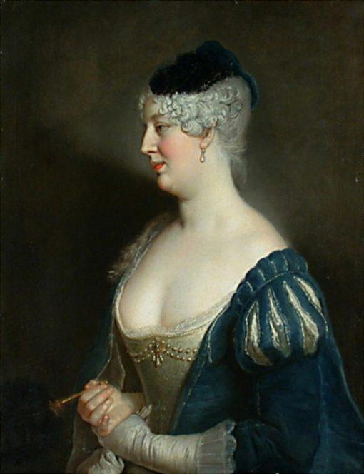 Portrait of Henriette von Zerbsten   Antoine Pesne   Oil Painting