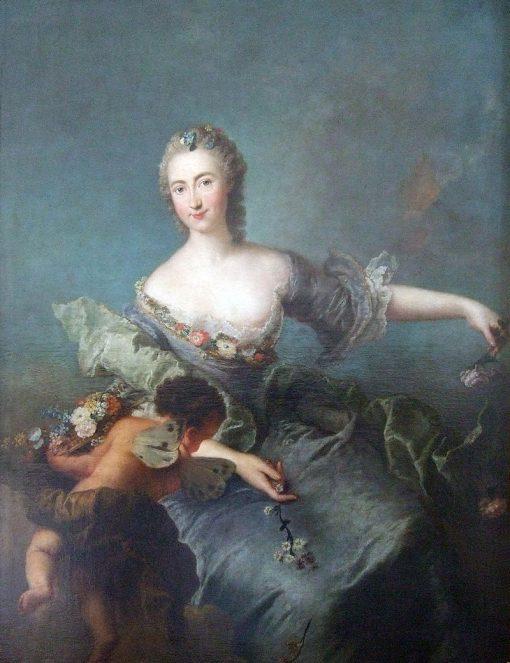 Portrait of Louise Albertine von Grappendorf as Flora | Antoine Pesne | Oil Painting