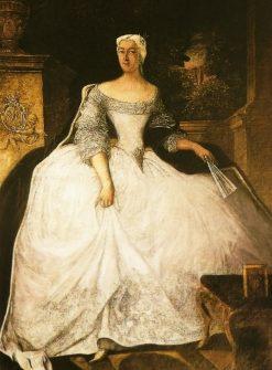 Portrait of Teofila Dzia?y?ska   Antoine Pesne   Oil Painting