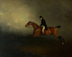 Archibald Kennedy Riding a Match from Culzean to Glasgow | Benjamin Marshall | Oil Painting
