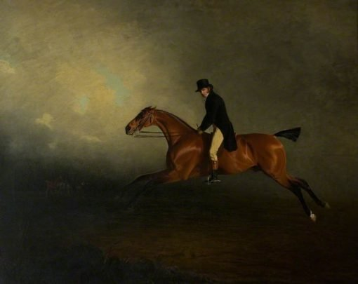 Archibald Kennedy Riding a Match from Culzean to Glasgow   Benjamin Marshall   Oil Painting