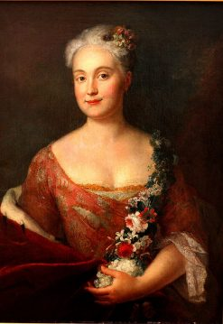 Friederike Markgrafin von Ansbach | Antoine Pesne | Oil Painting