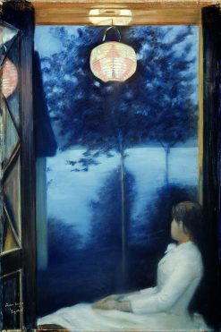 A Japanese Lantern | Oda Krohg | Oil Painting