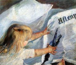 A subscriber to the Aftenposten | Oda Krohg | Oil Painting