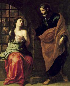 Saint Peter and Saint Agatha | Pietro Novelli | Oil Painting