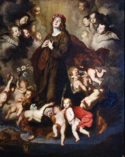 Saint Rosalia in Glory | Pietro Novelli | Oil Painting
