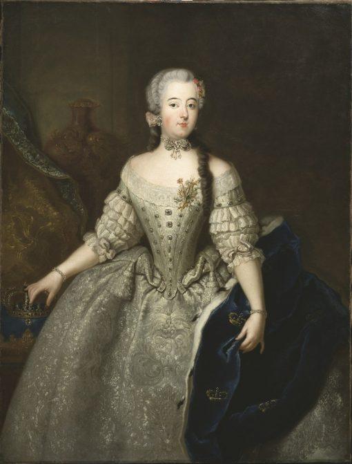 Portrait of Luisa Ulrika   Antoine Pesne   Oil Painting