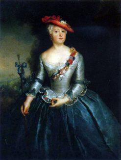 Luise Ulrike of Prussia   Antoine Pesne   Oil Painting