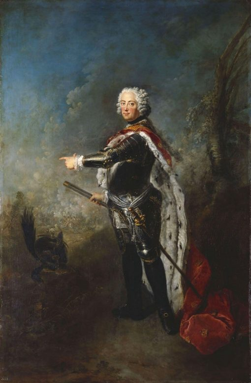 Portrait of Friedrich II of Prussia | Antoine Pesne | Oil Painting