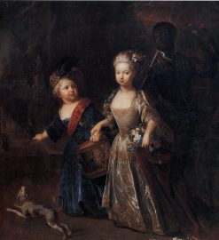 Frederick the Great as a child with his sister Wilhelmine | Antoine Pesne | Oil Painting