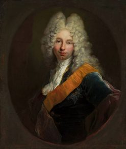 Portrait of a young man with the sash of the Order of the Black Eagle | Antoine Pesne | Oil Painting
