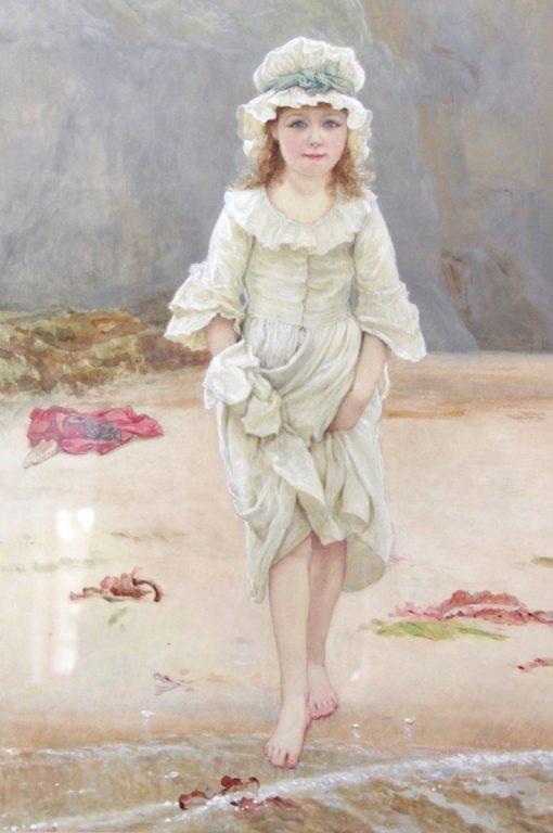 Girl on the Beach | Edward Killingworth Johnson | Oil Painting
