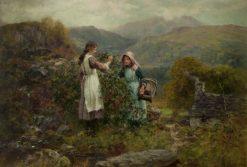 Blackberry Gatherers | Henry John Yeend King | Oil Painting